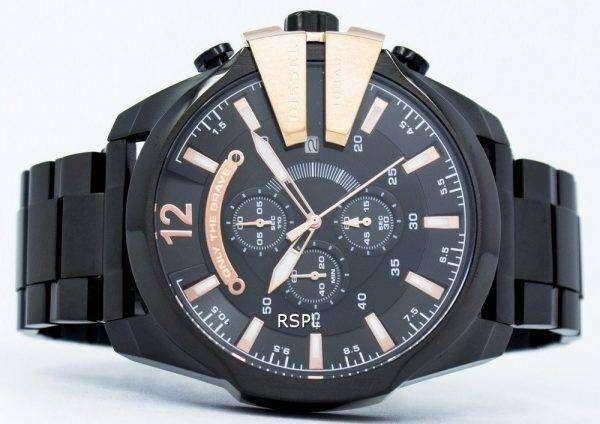 디젤 석 영 장 크로 노 그래프 블랙 다이얼 DZ4309 남자의 시계