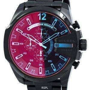 디젤 메가 최고 블랙 이온 도금 브라운 다이얼 DZ4318 남자의 시계