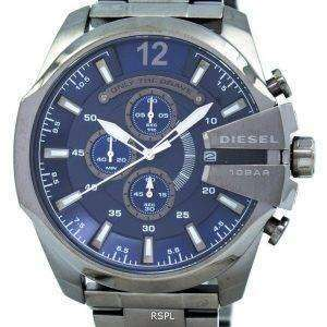 디젤 메가 최고 크로노 그래프 블루 100M DZ4329 남성 시계 다이얼