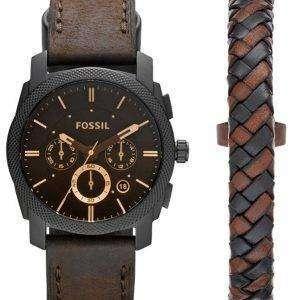 화석 기계 크로 노 그래프 석 영 FS5251SET 남자의 시계