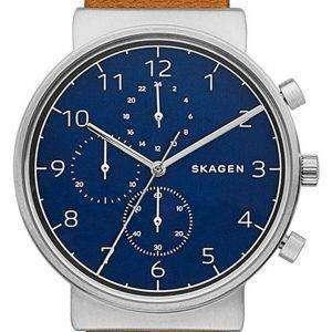 스 카 겐 Ancher 크로 노 그래프 석 영 SKW6358 남자의 시계
