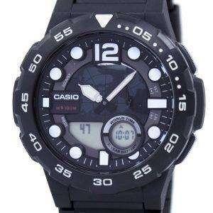 카시오 세계 시간 알람 아날로그 디지털 AEQ-100W-1AV 남자의 시계