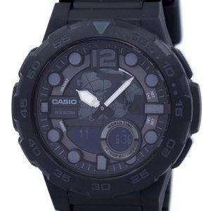 카시오 세계 시간 알람 아날로그 디지털 AEQ-100W-1BV 남자의 시계