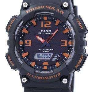 카시오 조명 기 힘든 태양 알람 아날로그 디지털 AQ-S810W-8AV 남자의 시계