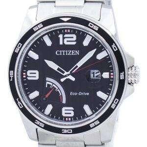 시민 PRT 에코-드라이브 전원 예비 아날로그 AW7030-57E 남자 시계