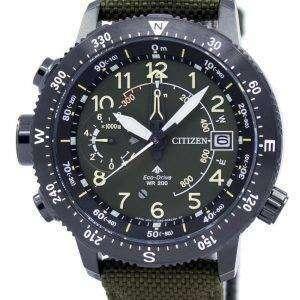 시민 Promaster 에코 드라이브 달력 200 M BN4045-12 X 남자의 시계