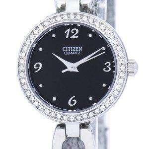 시민 석 영 다이아몬드 악센트 EJ6070-51E 여자의 시계