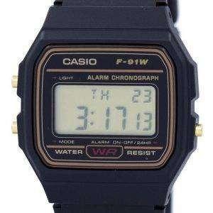 카시오 알람 크로 노 그래프 디지털 F-91WG-9 남자의 시계