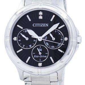 시민 에코 드라이브 다이아몬드 악센트 FD2030-51E 여자의 시계