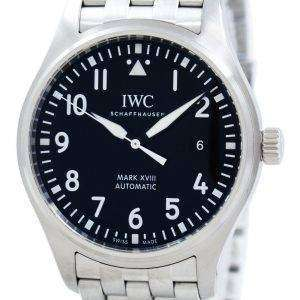 IWC 파일럿 마크 XVIII 자동 IW327011 남자의 시계
