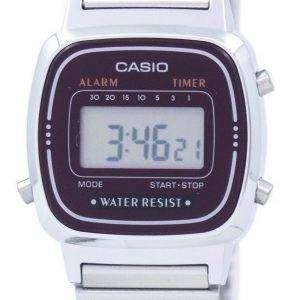카시오 알람 디지털 라-670WA-4 D 여자의 시계
