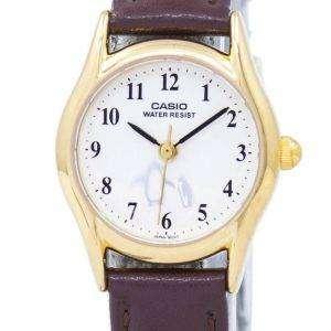 카시오 석 영 펭귄 다이얼 아날로그 LTP-1094Q-7B6 여자의 시계