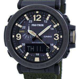 건반 Protrek 힘든 태양 아날로그 디지털 PRG-600YB-3 남자의 시계