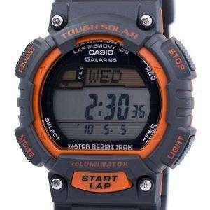 카시오의 터프 솔 라 조명 기 무릎 메모리 알람 디지털 STL-S100H-4AV 남자의 시계