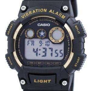 카시오 슈퍼 조명 기 진동 알람 디지털 W-735 H-1A2V 남자의 시계