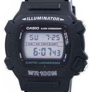 카시오 조명 전기 발광 크로 노 그래프 알람 W-740-1V 남자 시계