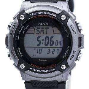 카시오의 터프 솔 라 조명 기 무릎 메모리 120 디지털 W-S200H-1AV 남자 시계