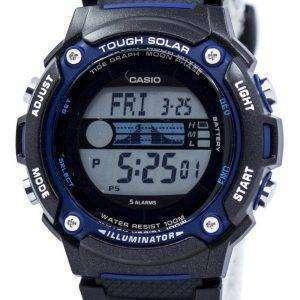 카시오 힘든 태양 조명 기 조 수 그래프 달 단계 디지털 W-S210H-1AV 남자의 시계