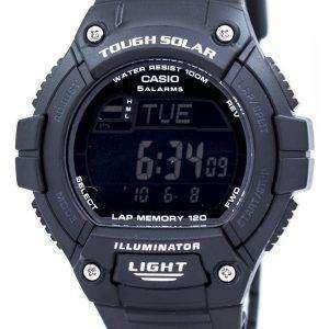 카시오 조명 기 힘든 태양 무릎 메모리 알람 디지털 W-S220-1BV 남자의 시계