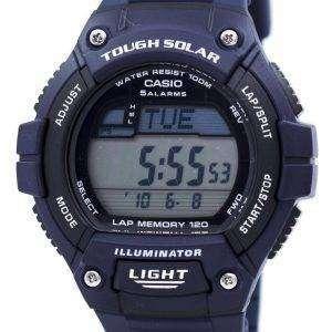 카시오 조명 기 힘든 태양 무릎 메모리 알람 디지털 W-S220-2AV 남자의 시계