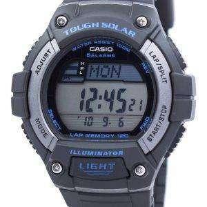 카시오 조명 기 힘든 태양 무릎 메모리 알람 디지털 W-S220-8AV 남자의 시계