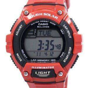 카시오 조명 기 힘든 태양 무릎 메모리 알람 디지털 W-S220C-4AV 남자의 시계