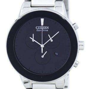 시민 공리 에코 드라이브 크로 노 그래프 AT2240-51E 남자의 시계