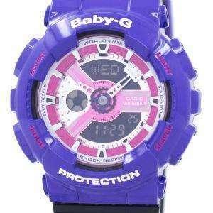 건반 베이비-G 세계 시간 충격 방지 아날로그 디지털 바-110NC-6A 여자의 시계