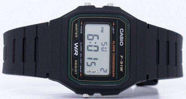 Casio 클래식 스포츠 크로 노 그래프 F 91W 3SDG F 91W 3 남자의 시계