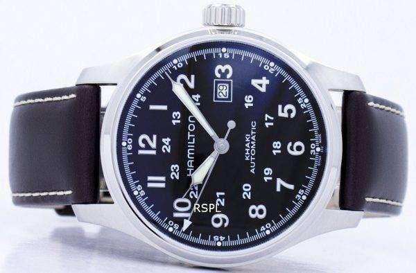 해밀턴 카 키 필드 자동 H70625533 남자의 시계