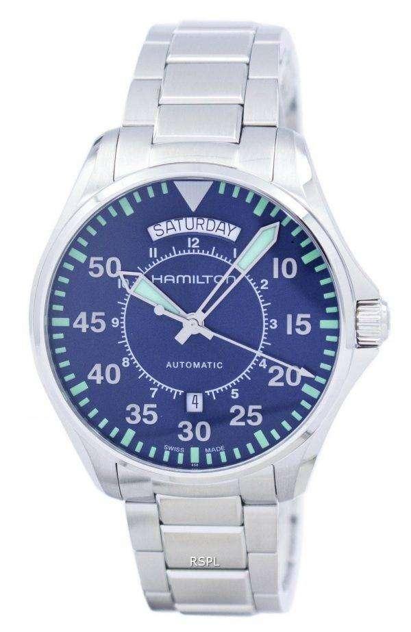 해밀턴 카 키 항공 파일럿 자동 H64615145 남자의 시계