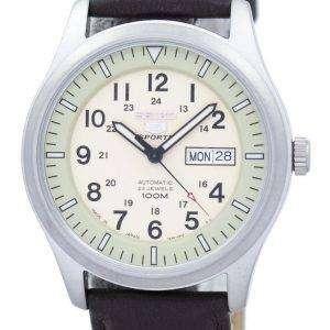 세이 코 5 스포츠 군 자동 일본 만든 비율 어두운 갈색 가죽 SNZG07J1 LS11 남자의 시계