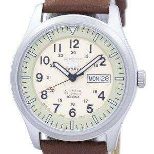 세이 코 5 스포츠 군 자동 일본 만든 비율 갈색 가죽 SNZG07J1 LS12 남자의 시계