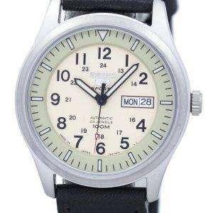 세이 코 5 스포츠 군 자동 일본 만든 비율 블랙 가죽 SNZG07J1 LS8 남자의 시계