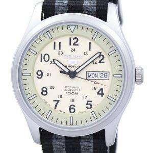 세이 코 5 스포츠 군 자동 일본 만든 나토 스트랩 SNZG07J1 NATO1 남자의 시계