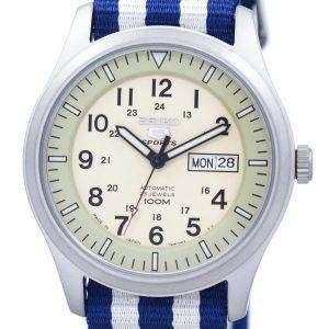 세이 코 5 스포츠 군 자동 일본 만든 나토 스트랩 SNZG07J1 NATO2 남자의 시계
