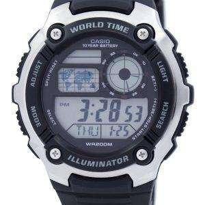카시오 청소년 조명 세계 시간 디지털 AE-2100W-1AV AE2100W-1AV 남자 시계