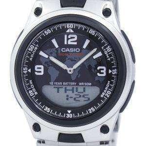 카시오 세계 시간 뱅크 아날로그 디지털 AW-80 D-1A2V AW80D-1A2V 남자의 시계
