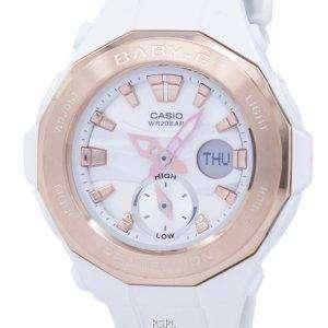 건반 베이비-G 세계 시간 아날로그 디지털 BGA-220 G-7ADR BGA220G-7ADR 여자의 시계