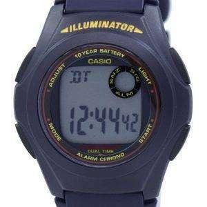 카시오 조명 기 듀얼 타임 알람 크로 노 F-200W-2ASDF F200W-2ASDF 남자의 시계
