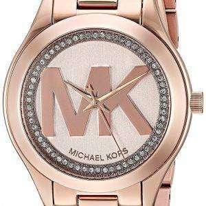 마이클 Kors 미니 슬림 활주로 석 영 다이아몬드 악센트 MK3549 여자의 시계