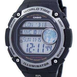 카시오 청소년 조명 세계 시간 디지털 AE-3000W-1AV AE3000W-1AV 남자 시계