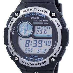 카시오 청소년 조명 세계 시간 디지털 CPA-100-1AV CPA100-1AV 남자 시계