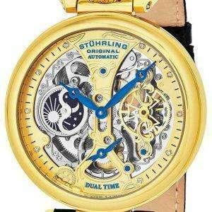 Stuhrling 원래 천황의 그랜드 듀얼 타임 자동 127A2.333519 남자의 시계