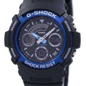 카시오 Gshock 아날로그-디지털 세계 시간 시계 AW591 2ADR AW591-2A