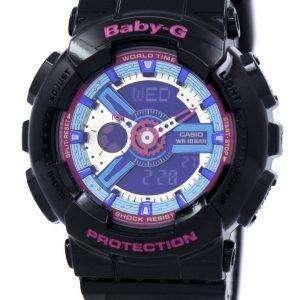 건반 베이비-G 세계 시간 아날로그 디지털 멀티 컬러 다이얼 바-112-1A 여자 시계