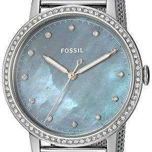 화석 Neely 석 영 다이아몬드 악센트 ES4313 여자의 시계