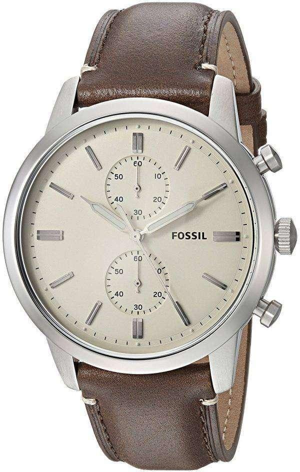 화석 도회지 크로 노 그래프 석 영 FS5350 남자의 시계