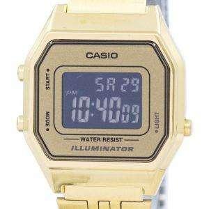 카시오 청소년 빈티지 조명 알람 디지털 LA680WGA-9B 여자 시계