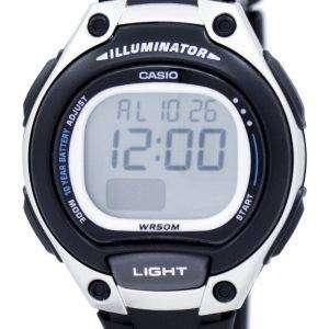 카시오 조명 기 듀얼 타임 알람 디지털 LW-203-1AV LW203-1AV 여자 시계